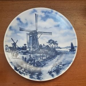 Ter Steege b.v. Delft Plate, Windmill, Girl & Cow
